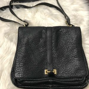 Fossil black pebble leather Large crossbody bag